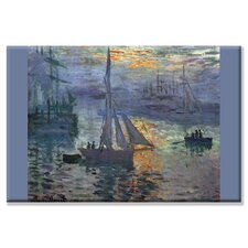 Sunrise at Sea Painting Print on Wrapped Canvas