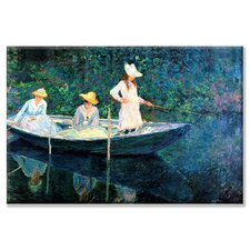Women Fishing by Monet Painting Print on Wrapped Canvas