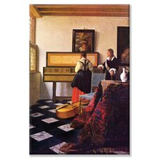 The Music Lesson by Johannes Vermeer Painting Print on Wrapped Canvas