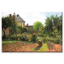 The Artist Garden at Eragny Painting Print on Wrapped Canvas