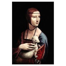 Portrait of a Lady with an Ermine by Leonardo Da Vinci Painting Print on Wrapped Canvas