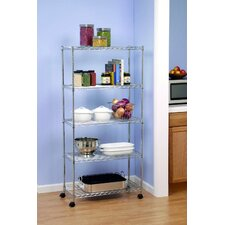 "UltraZinc Home Style Wire System 60"" H 5 Shelf Shelving Unit"