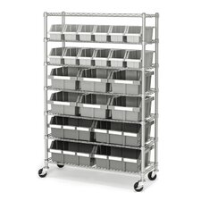 "Commercial 56"" H Seven Shelf Storage Rack"
