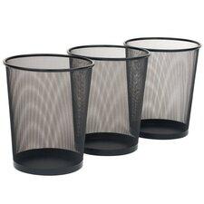 6-Gal Mesh Waste Basket (Set of 3)