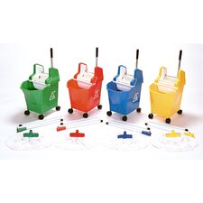 Lady Pick Up and Go System Bucket, Wringer, Mop and 3 Piece Handle