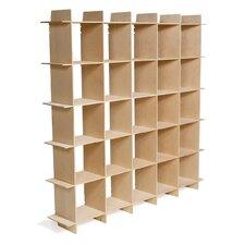 Mid-Century 25 Cube Storage Bookcase