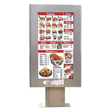 "Outdoor Digital Menu Board Enclosure for 46"" LCD"