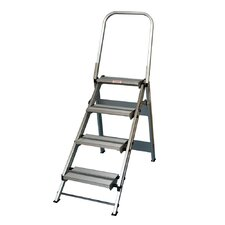 4 ft Aluminum Folding Safety Step Ladder with 375 lb. Load Capacity
