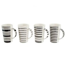 Cafe Noir 13 oz. Gift Boxed Mug (Set of 4)