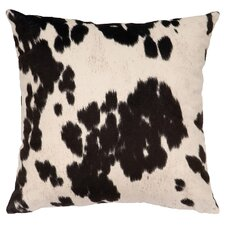 Faux Hair on Hide Throw Pillow
