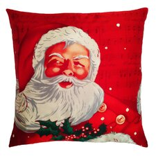 Holiday Elegance Santa Clause Silk Throw Pillow
