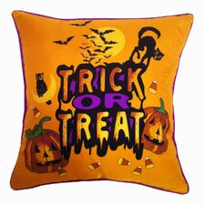Holiday Elegance Trick or Treat Silk Throw Pillow
