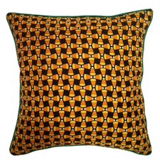 Holiday Elegance Candy Corn Silk Throw Pillow