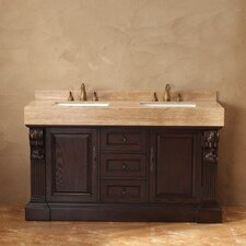 "Toscano 60"" Double Bathroom Vanity Set"