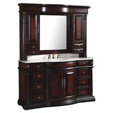 "Egwene 62"" Single Bathroom Vanity Set with Mirror"