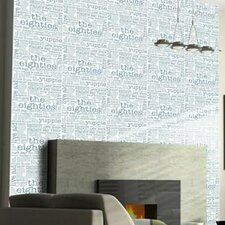 "Wall Expressions 20' x 20"" Typography Panels Wallpaper (Set of 4)"