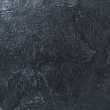 "Floorworks 12"" x 18"" x 3.05mm Luxury Vinyl Tile in Mountain Slate"