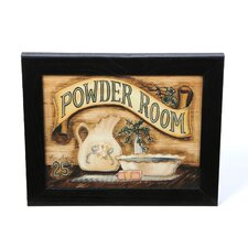 Powder Room by Becca Barton Framed Graphic Art