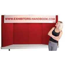 Hero H08 Tabletop Folding Display Panel with Backlit Header and Curved Edges
