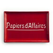 Voyage Papiers D'Affaires Rectangular Serving Tray