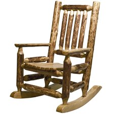 Glacier Country Log Child's Rocking Chair
