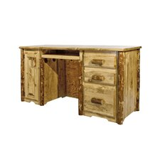 Glacier Country 3 Drawers Computer Desk