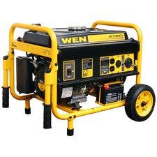 4,750 Watt Gasoline Generator with Electric Start and Wheel Kit