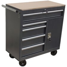 "36"" Wide 5 Drawer Roll Away Tool Cabinet"
