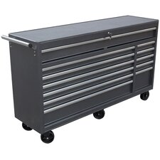"66"" Wide 12 Drawer Roll Away Tool Cabinet"
