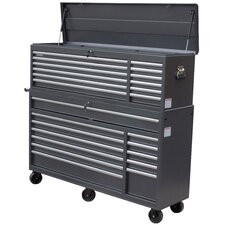 "66"" Wide 24 Drawer Tool Chest and Cabinet Combo"