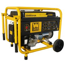 5,500 Watt Portable Generator with Wheel Kit