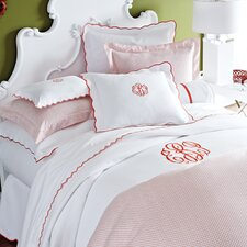 Pique Scalloped Cotton Coverlet