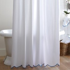 Scalloped Pique Cotton Shower Curtain