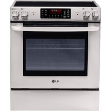 5.4 Cu. Ft. Electric Convection Range in Stainless Steel