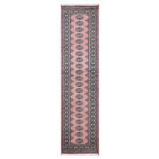 Tribal Bokhara Hand-Knotted Salmon Area Rug