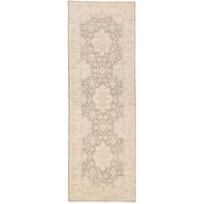 Hand-Knotted Ivory / Brown Area Rug