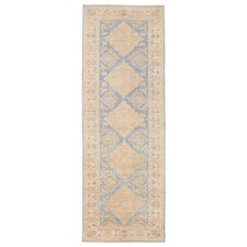 Afghan Hand-Knotted Blue Area Rug