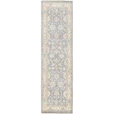 Hand-Knotted Gray/Ivory Area Rug