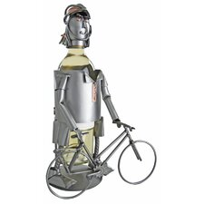 Bicycle Rider Female Wine Caddy