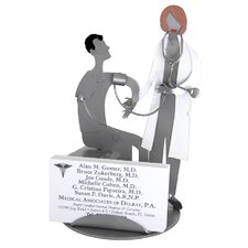 Doctor with Female Patient Business Card Holder