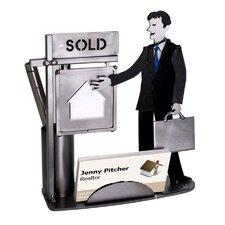 Real Estate Male Business Card Holder