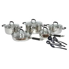 Stainless Steel 15 Piece Cookware Set