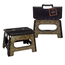 1-Step Molee Plastic Folding Step Stool with 200 lb. Load Capacity