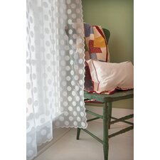 Polka Dot Rod Pocket Window Curtain Panel