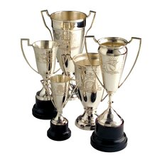 5 Piece Victoria Engraved Vintage Trophy Sculpture