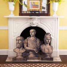 3 Piece Roman Bust Stand Set