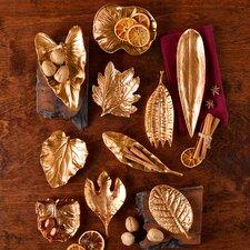 10 Piece Large Brass Foliage Dish Sculpture Set