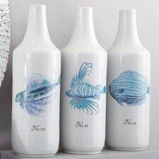 3 Piece La Mer Coral Fish Vase Set