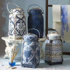 4-Piece Decorative Rice Jar Set