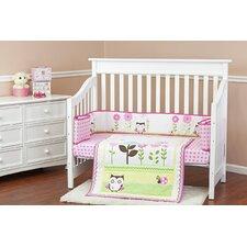 Baby Owl 3 Piece Crib Bedding Set